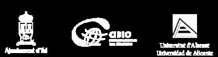 logos-ayuntamientoibi-CIBIO-UA-negativo